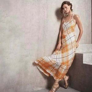 Holding horses clementine maxi dress plaid gold
